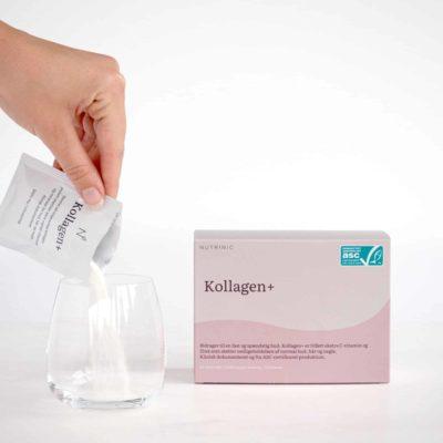 Nutrinic Kollagen+ – Kollagen, c-vitamin og zink. 30 doseringer