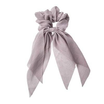 Scrunchie w. Scarf – Dusty Purple w. Glitter