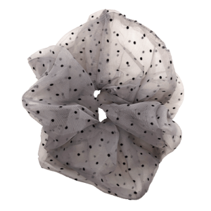 Naja Big Scrunchie – Grey with small dots
